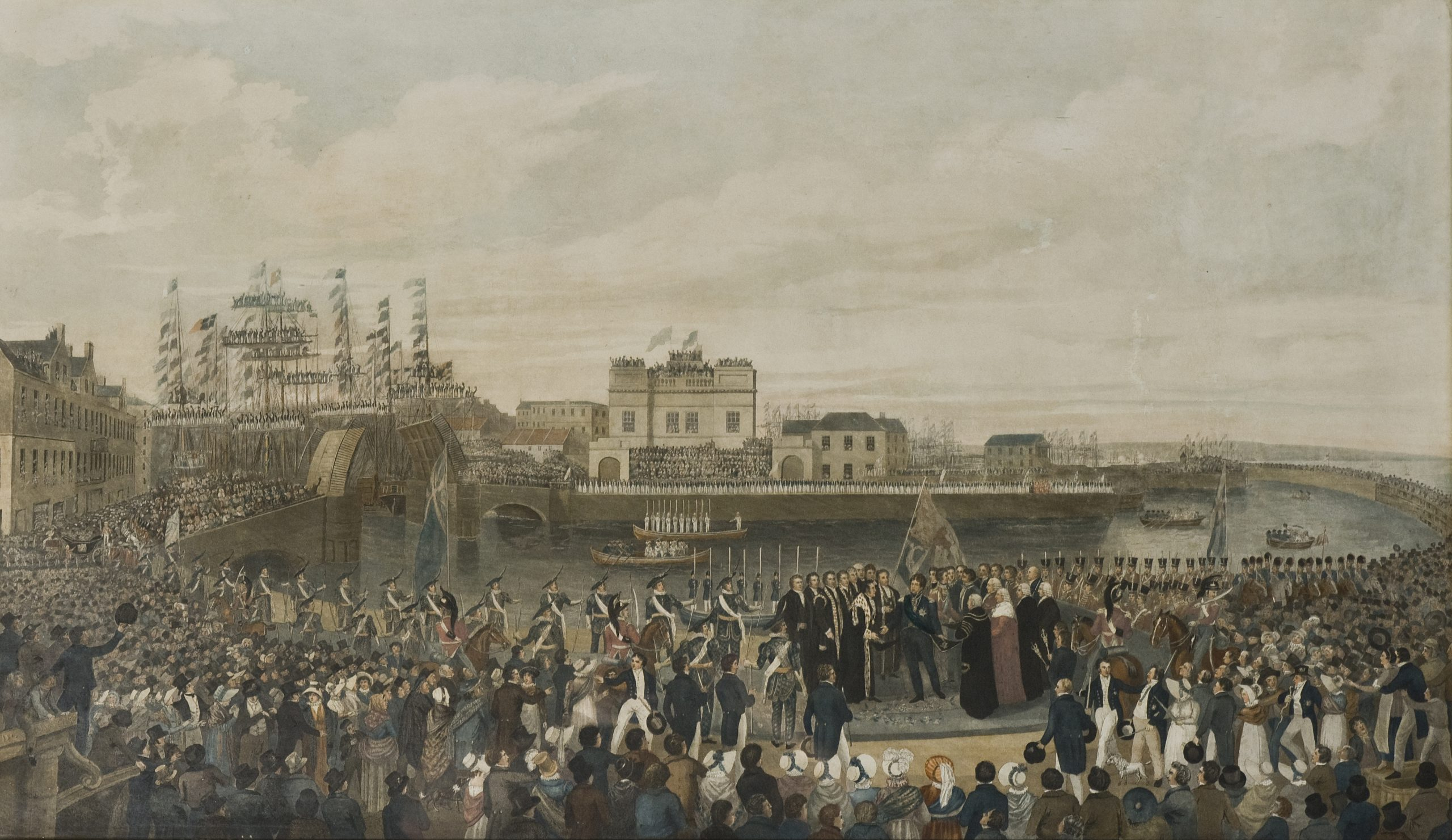 King George IV landing on the shore at Leith, 1822, by Alexander Carse (1770-1843)